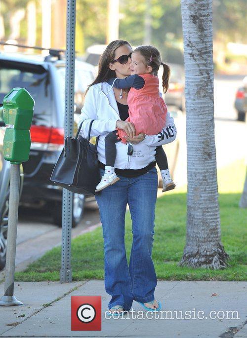 Pregnant Jennifer Garner and daughter Violet Affleck...