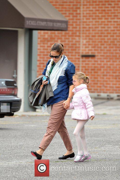 Jennifer Garner and eldest daughter Violet Affleck are...