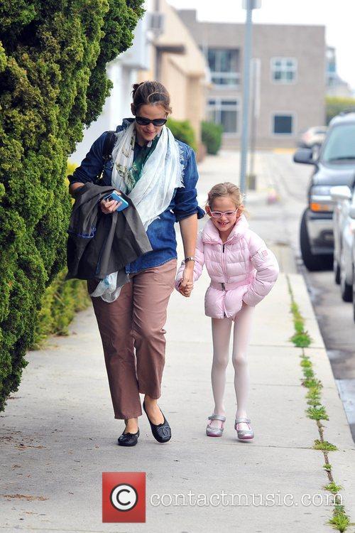 Jennifer Garner and eldest daughter Violet Affleck are...