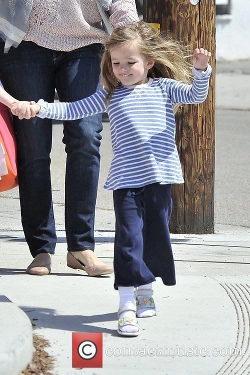 Seraphina Affleck is seen heading to ballet class...