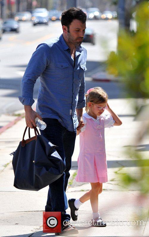 Ben Affleck takes his daughter Violet to Karate...