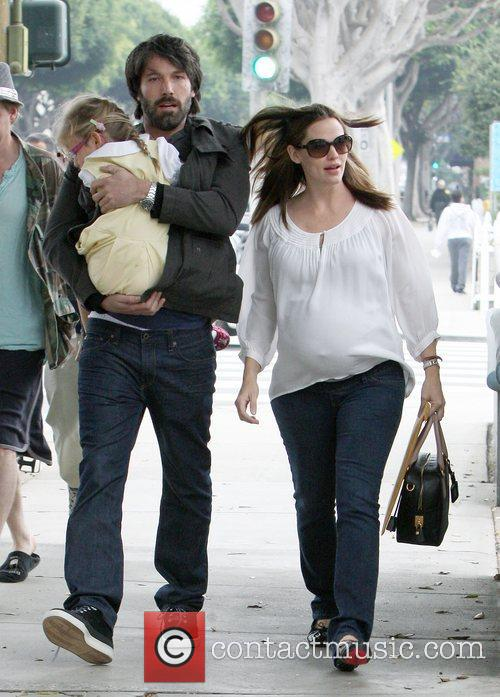 Pregnant Jennifer Garner out and about with her...