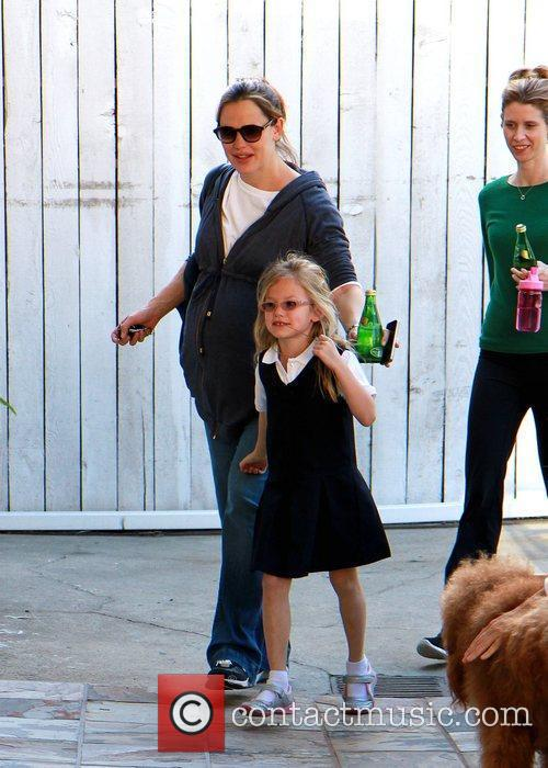 Taking her daughter Violet Affleck to a Martial...