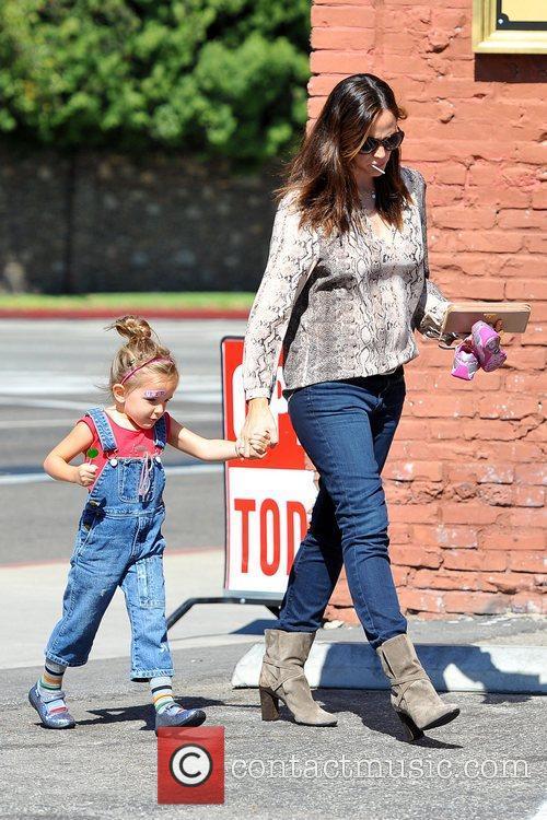 Jennifer Garner seen with daughter Seraphina Affleck in...