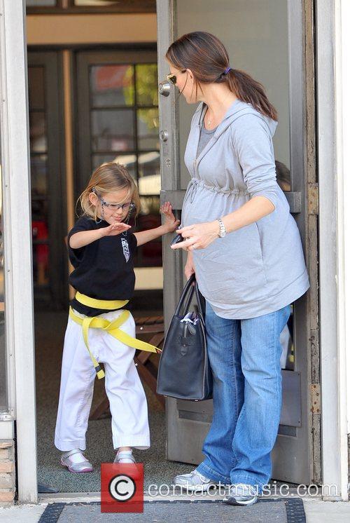 Jennifer Garner picking up her daughter Violet...