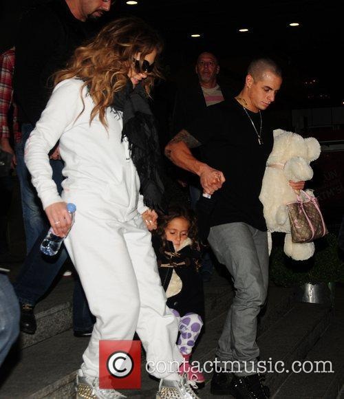 Jennifer Lopez with her daughter Emme and boyfriend...
