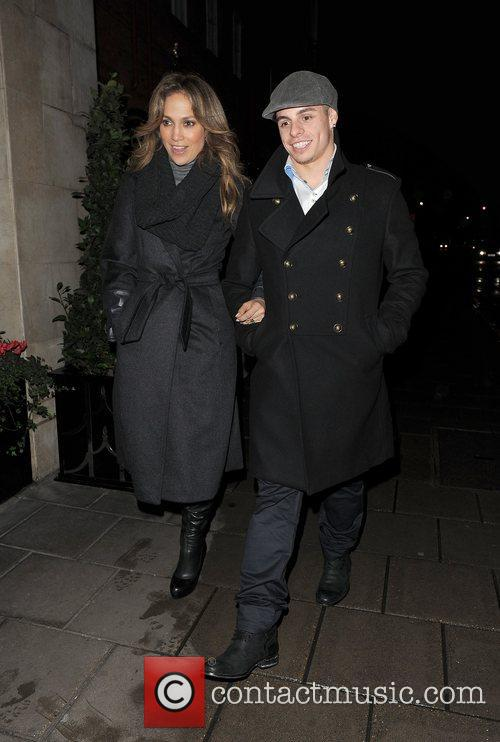 Jennifer Lopez and boyfriend Casper Smart enjoy a...