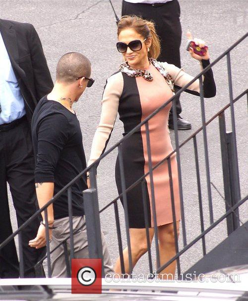 Jennifer Lopez and Casper Smart  arrive at...