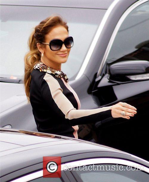 Jennifer Lopez arrives at Boulevard3 to announce her...