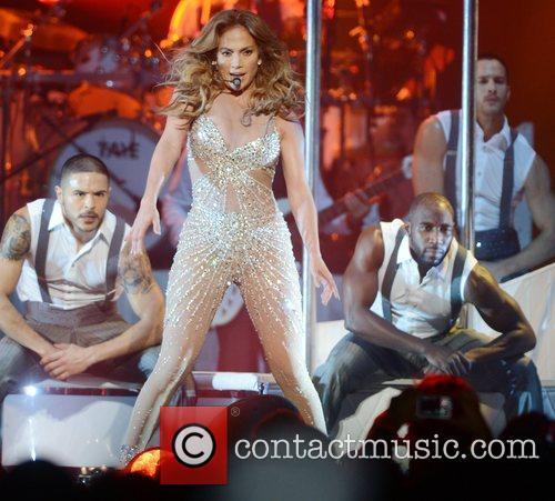Jennifer Lopez performs live at London's O2 Arena...