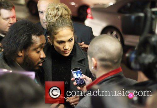 Jennifer Lopez  returns to her hotel after...