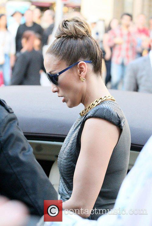 Jennifer Lopez  arrives at The Grove to...