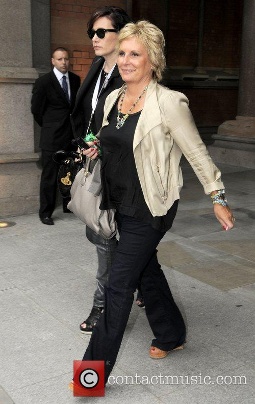 jennifer saunders leaving the st pancras renaissance 3964687