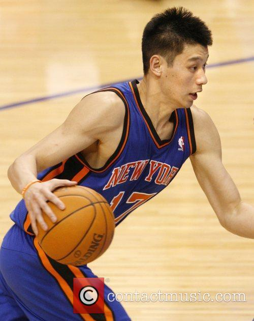 New York Knicks guard Jeremy (Linsanity) Lin during...