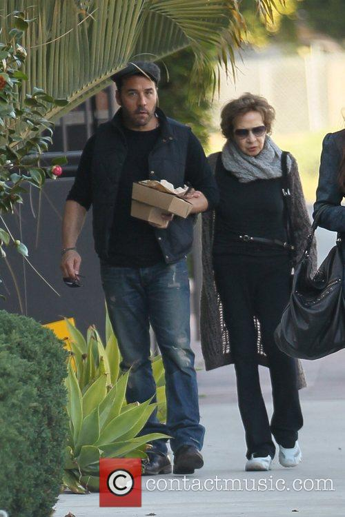 Jeremy Piven leaving lunch with his Mother only...
