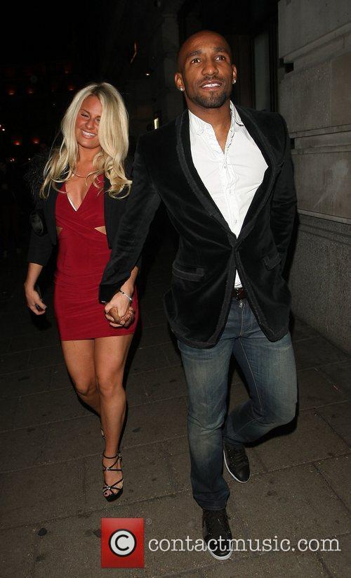 Jermain Defoe  English footballer leaving Novikov restaurant...