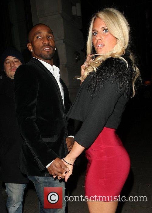 English footballer leaving Novikov restaurant with a new...
