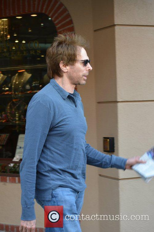 jerry bruckheimer leaving a medical office in 5805092