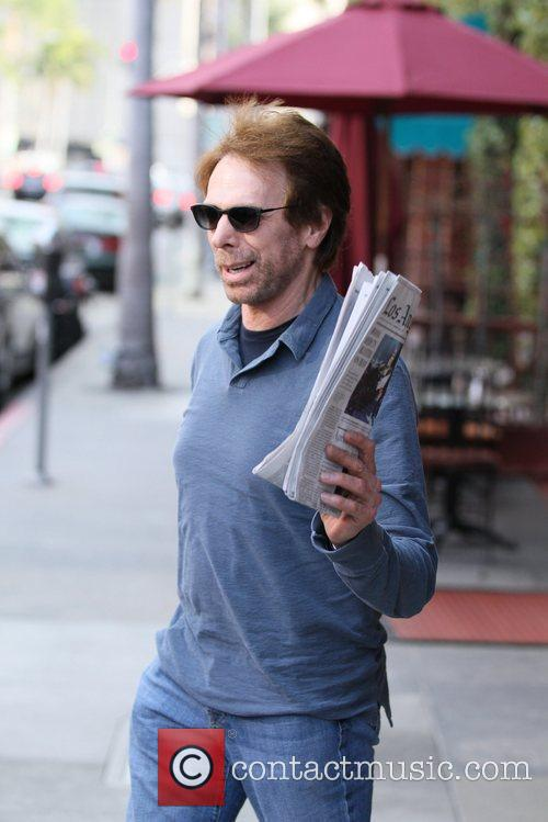 Jerry Bruckheimer leaving a medical building in Beverly...