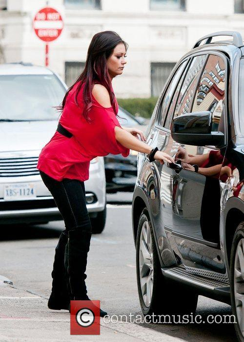 Jenni Farley, aka 'JWOWW' out and about in...
