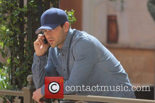 Jesse Metcalfe hanging out at the Grove with...
