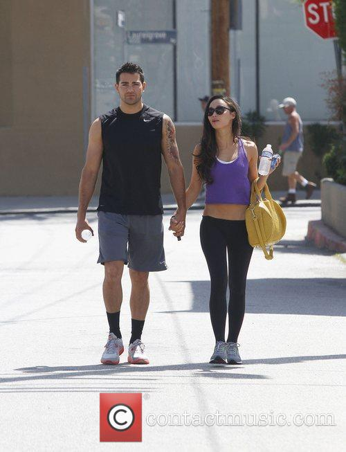 Jesse Metcalfe leaving the gym in Studio City...