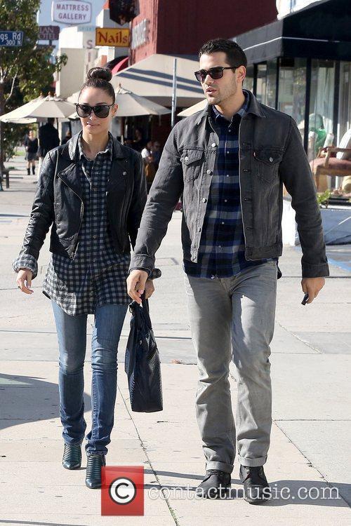 Cara Santana and Jesse Metcalfe leaving Kings Road...