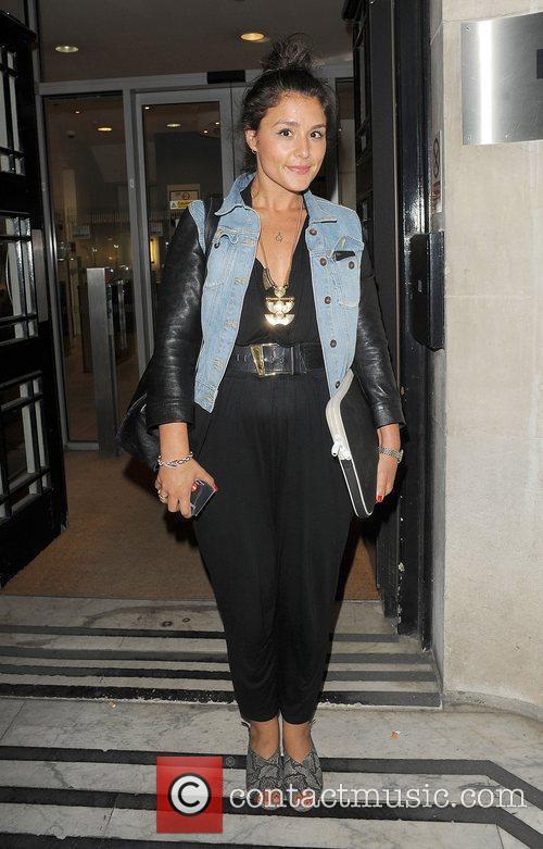 Jessie Ware leaving the Radio 2 studio.