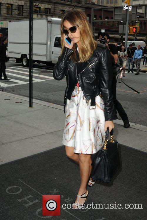 Jessica Alba is seen arriving at her Manhattan...