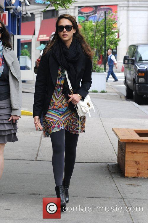 Jessica Alba is seen taking a stroll in...
