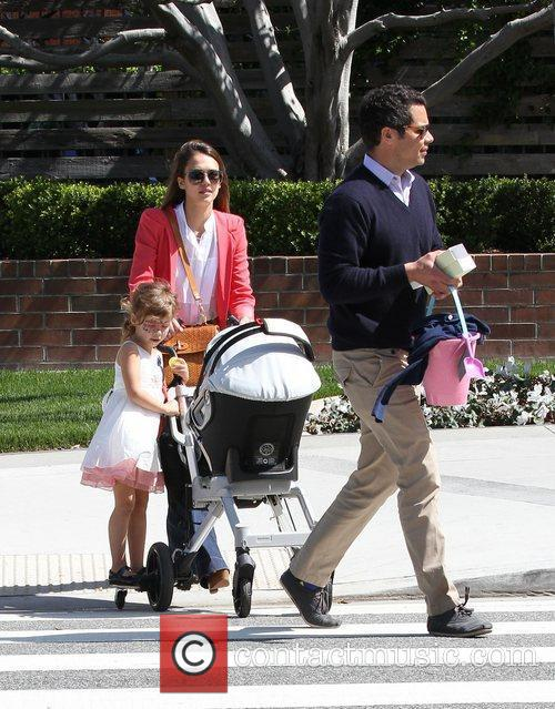 Jessica Alba, husband Cash Warren and daughter Honor...