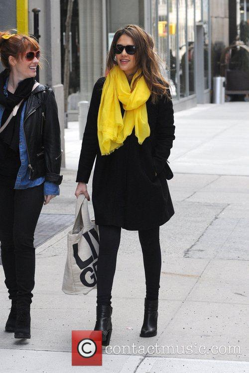 Jessica Alba  out and about with a...