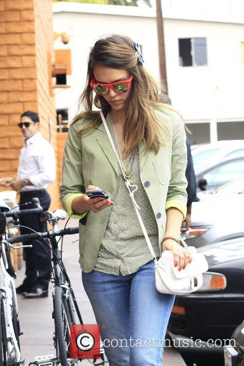 Jessica Alba is seen out and about while...