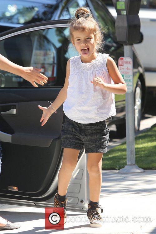 Jessica Alba and daughter Honor Marie Warren arrive...