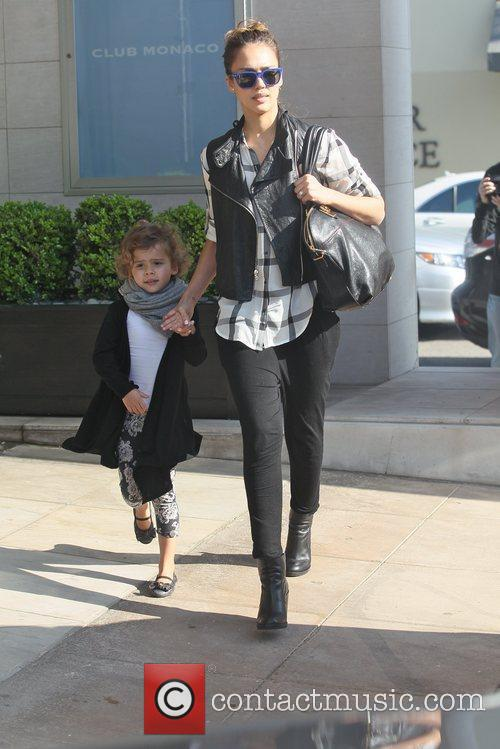 Heading to lunch with her daughter Honor Marie...