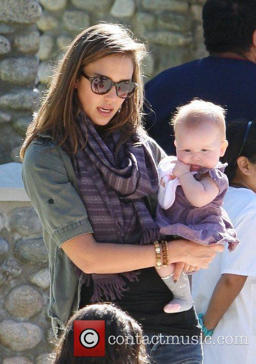 Jessica Alba and Haven Warren enjoy a family...