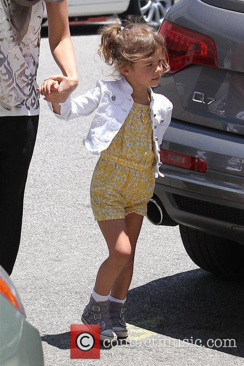 Jessica Alba seen dropping off daughter Honor Marie...