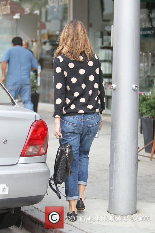 Jessica Alba is seen going to get her...