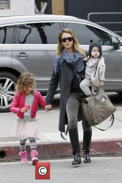 Honor Marie Warren, Jessica Alba and Haven Garner Warren 3