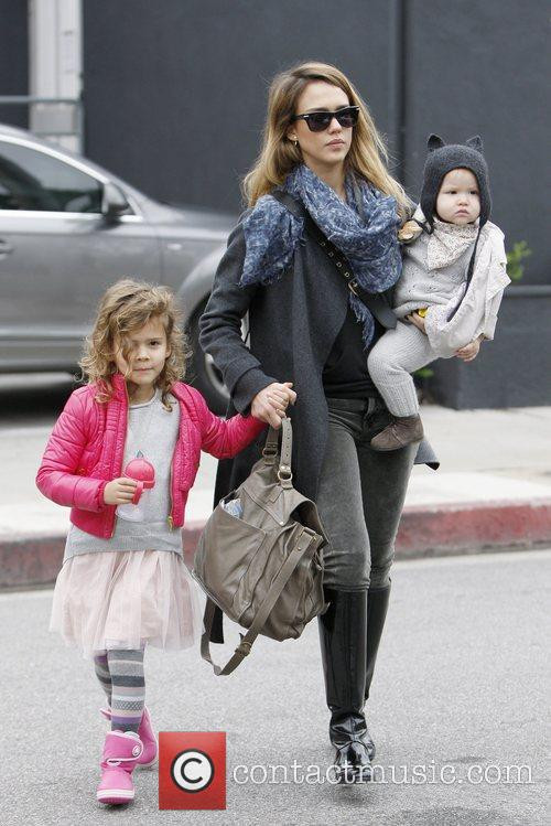 Honor Marie Warren, Jessica Alba and Haven Garner Warren 1