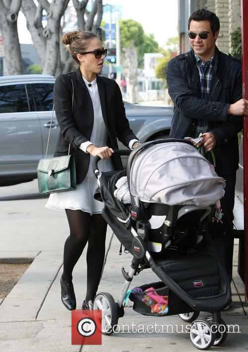 Jessica Alba out and about with family, Honor...