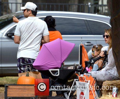 Jessica Alba and her family at Mr. Bones...