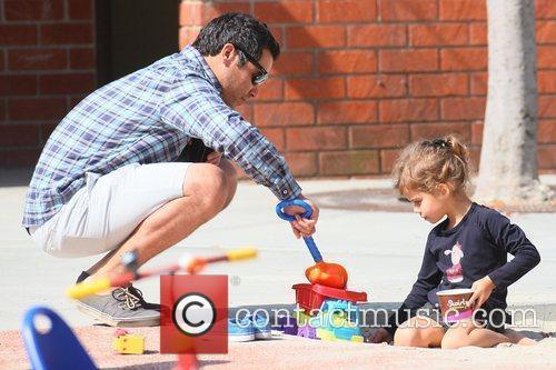 Cash Warren and daughter Honor Marie Warren spending...