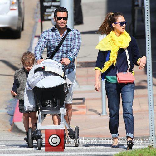 Jessica Alba, husband Cash Warren and daughter Honor...