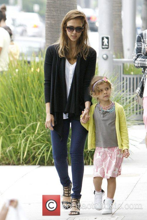 Jessica Alba and Honor Marie Warren have lunch...