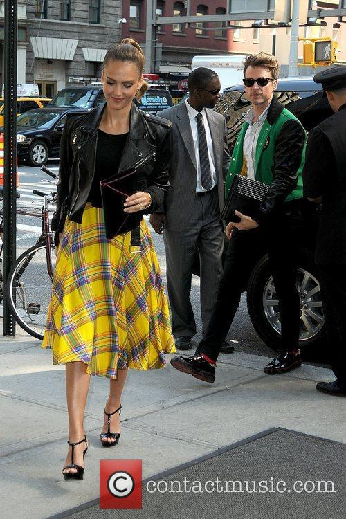 Jessica Alba and Brad Goreski return to their...