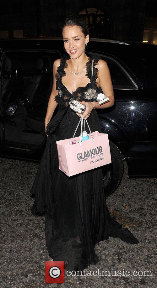 Jessica Alba arriving back at her hotel.