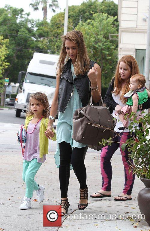 jessica alba with daughters honor marie warren 4046579