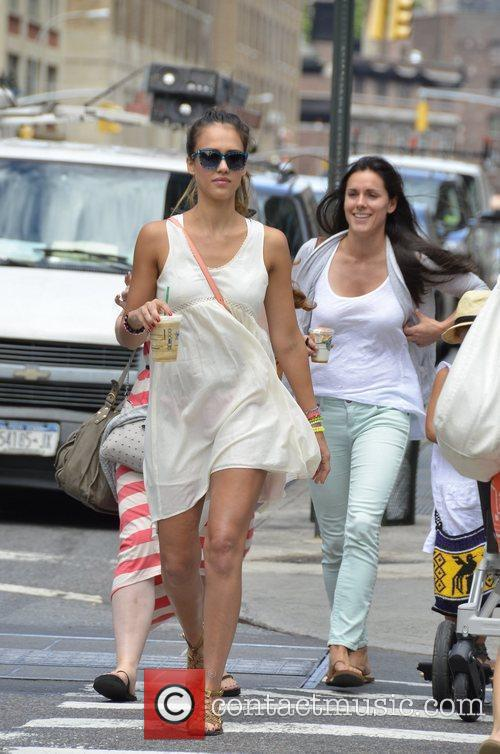Jessica Alba and her family out and about...