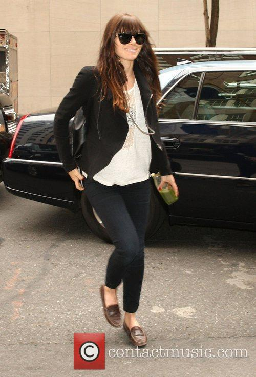 Jessica Biel arrives at her New York hotel....